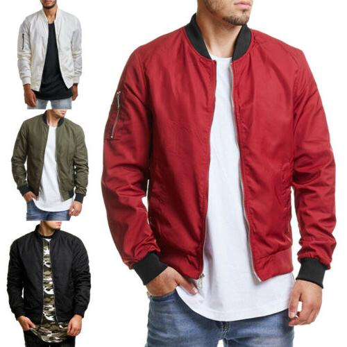 Men Thin Autumn Outerwear Bomber Coat