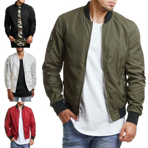 Men Casual Thin Bomber Fashion
