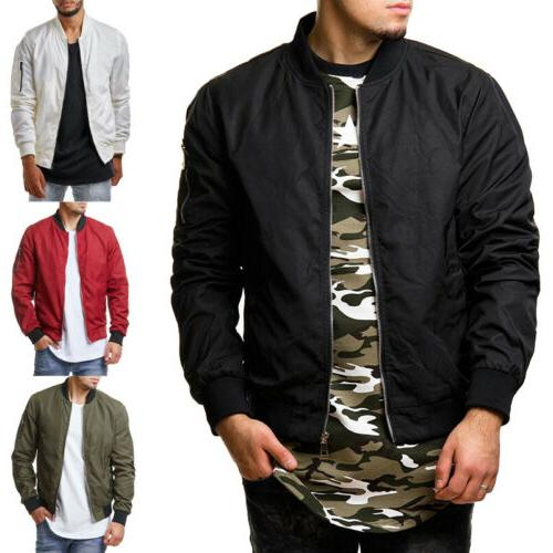 men casual business jacket thin autumn baseball