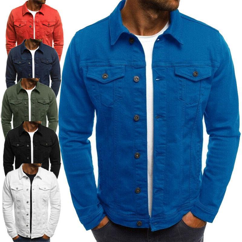 Men Jacket Jean Cargo Single G