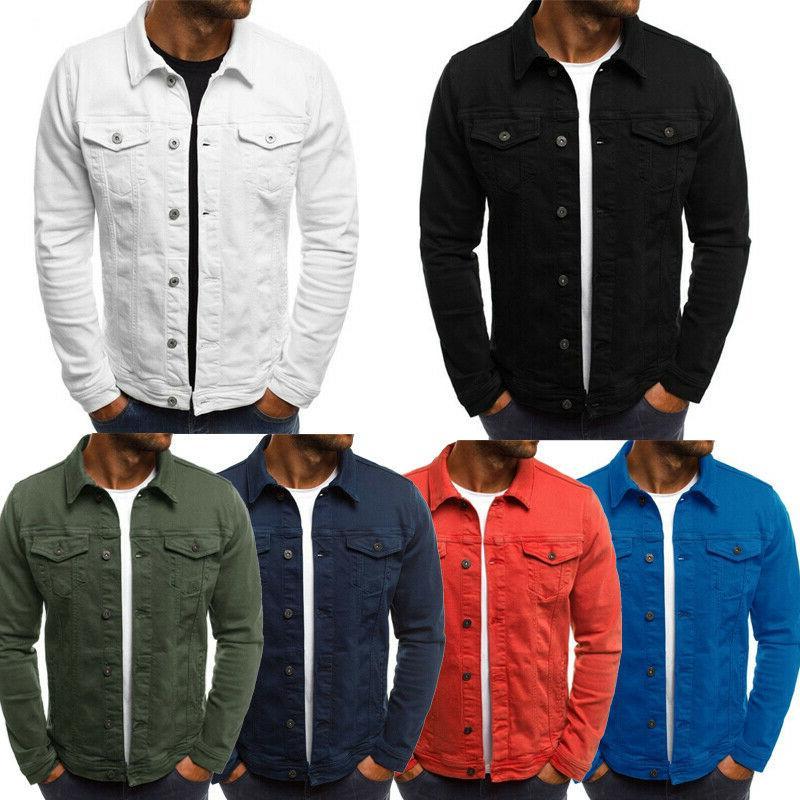 Men Jacket Jean Single G