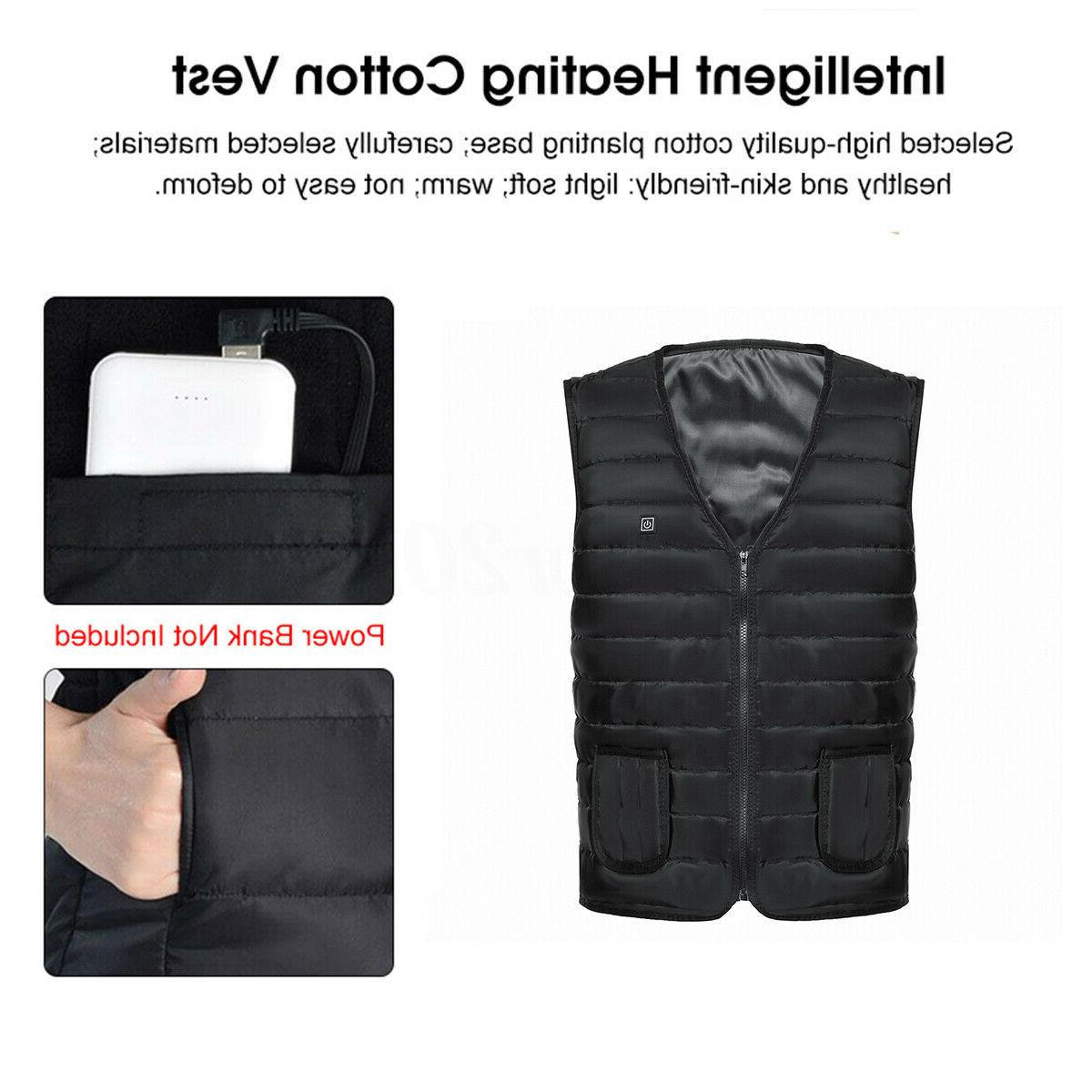 Men Electric Heated Vest Fast Warm-Up