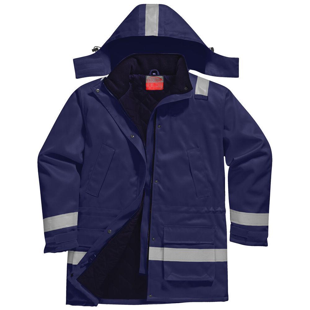 men fr anti static winter jacket navy
