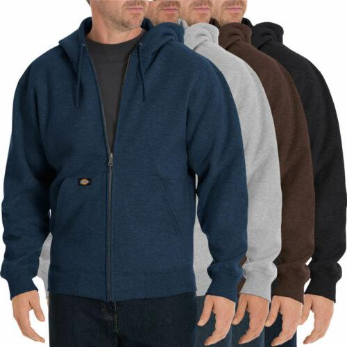 Men Hooded Jackets DICKIES Zipper Fleece Hoodie Sweatshirts