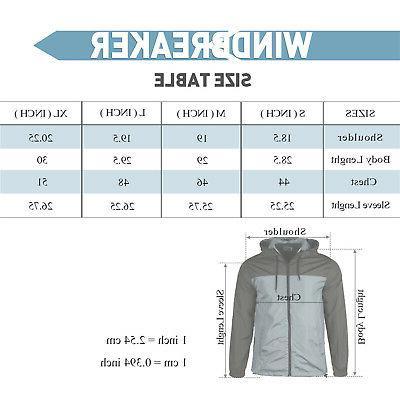Men Water Lightweight Windbreaker Zipper Sports Jacket