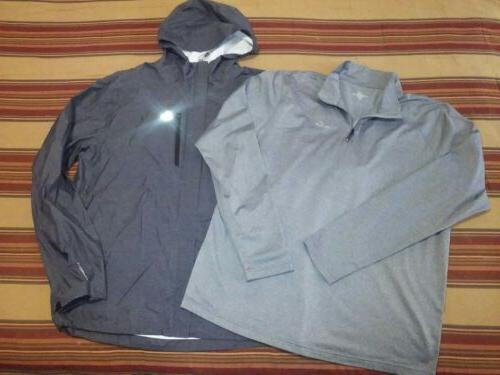 men large hooded shell jacket xl ls