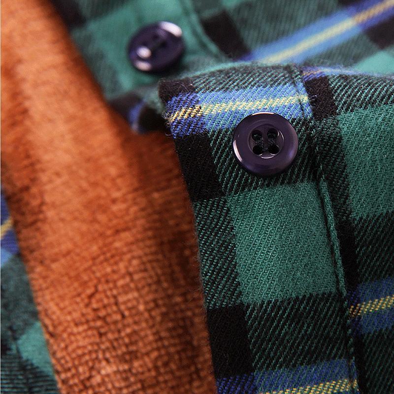 Chouyatou Men Fleece Lined Flannel