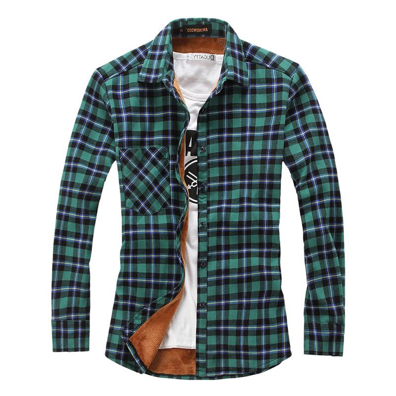 Fleece Plaid Flannel Buttoned Jacket