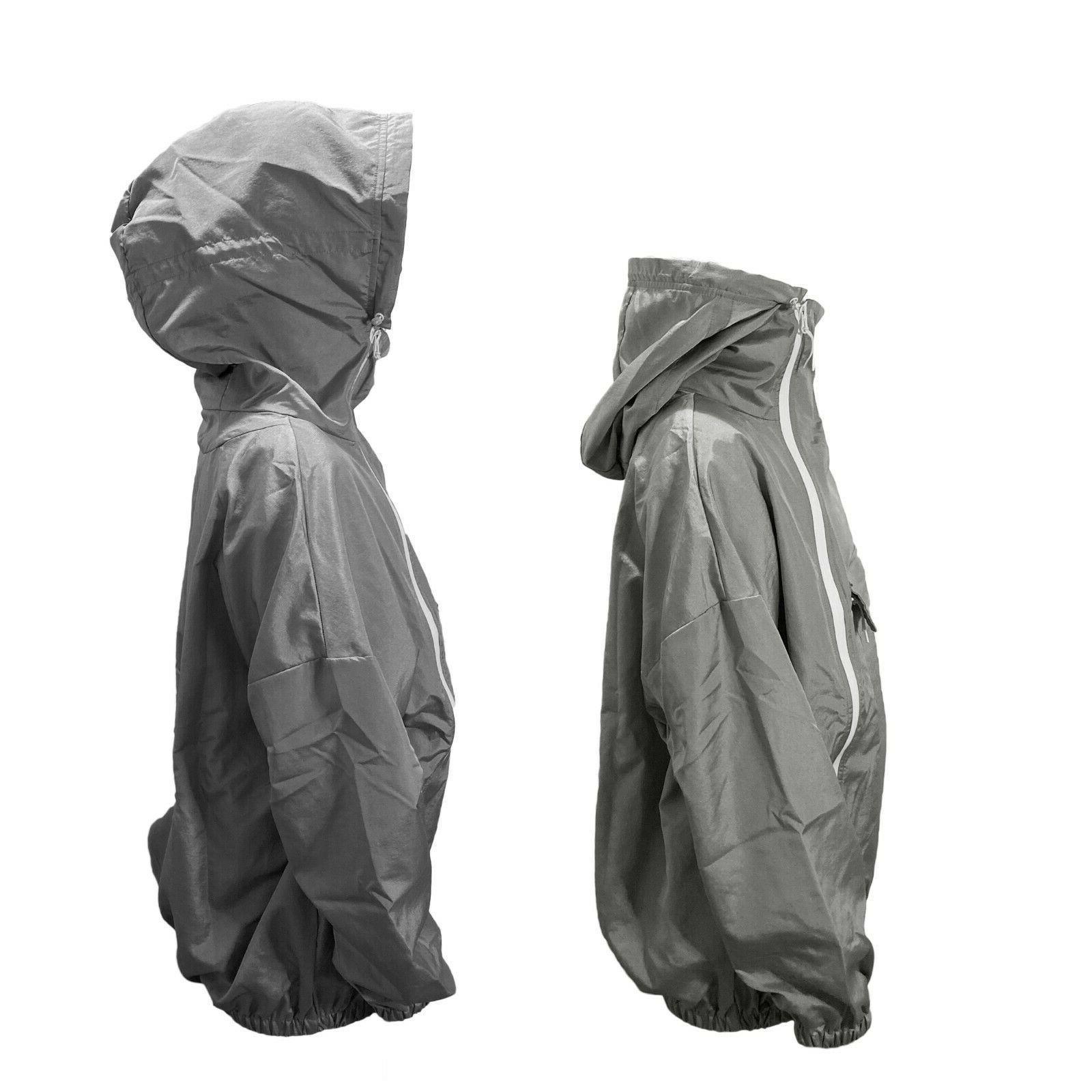 Men's 100% Outdoor Windbreaker Hooded Pullover Rain USA