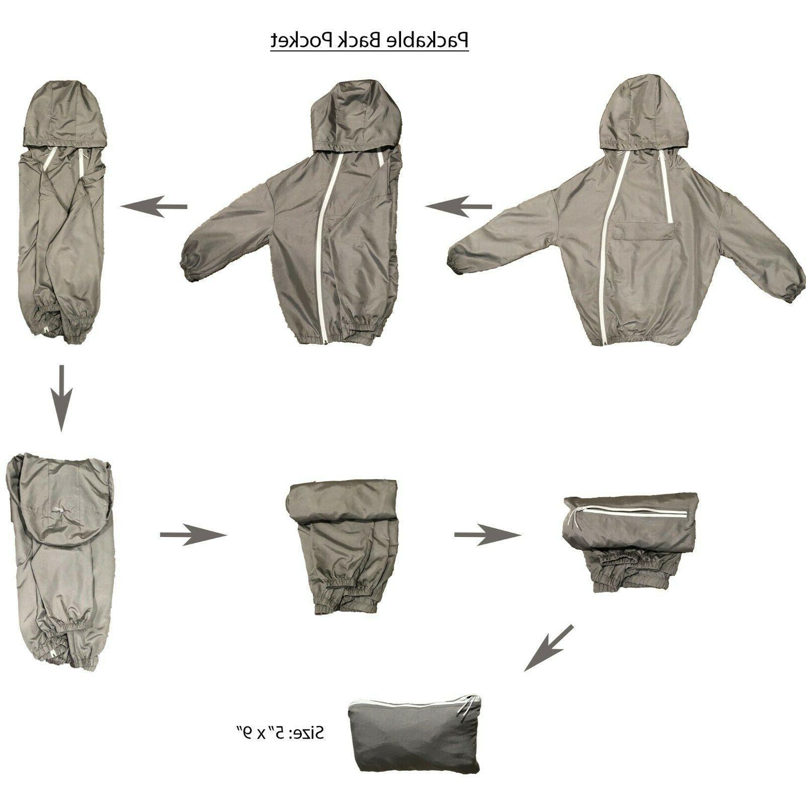 Men's 100% Waterproof Light Outdoor Hooded Pullover USA