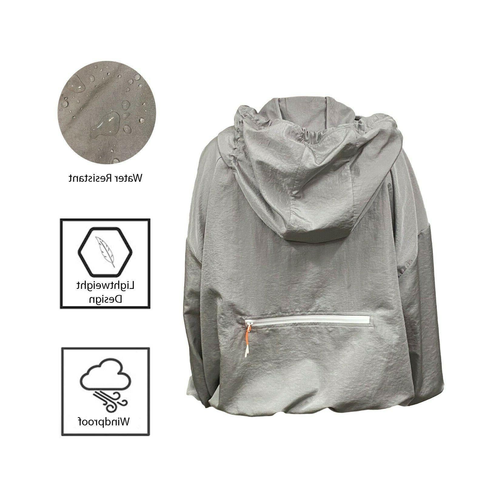 Men's Waterproof Light Outdoor Jacket Pullover