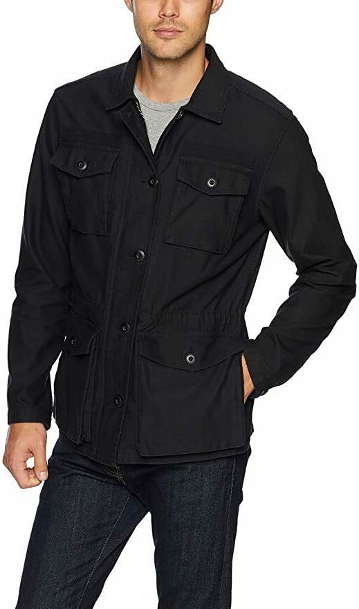 Goodthreads Men's 4-Pocket Military Jacket Caviar/Black Extr