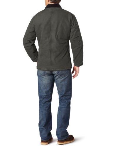 Carhartt Men's Lined Sandstone Traditional Coat C26,Moss,Large