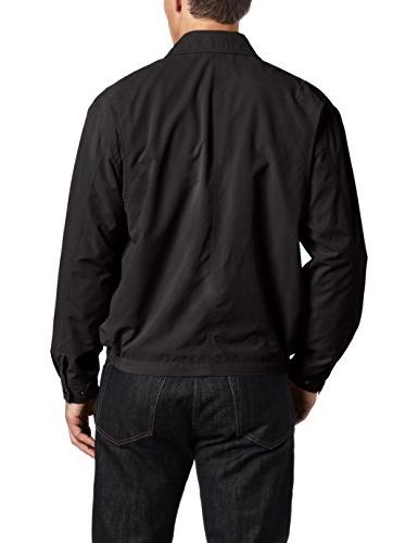London Lightweight Microfiber Golf Jacket L, Black