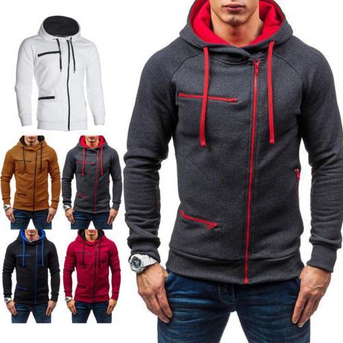 men s winter warm hoodie hooded sweatshirt