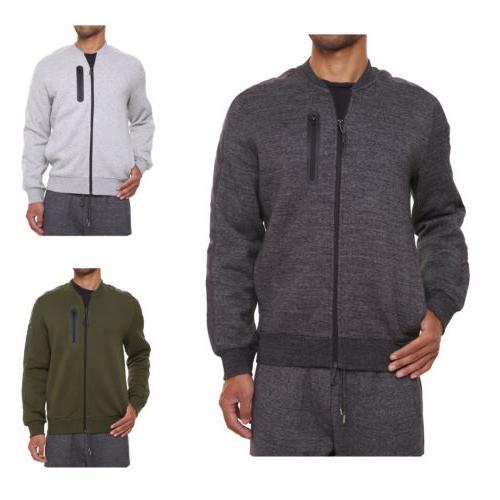 FORBIDEFENSE Men's Baseball Jacket Coat Outwear Black Melang
