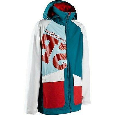 men s beacon snow jacket teal bag