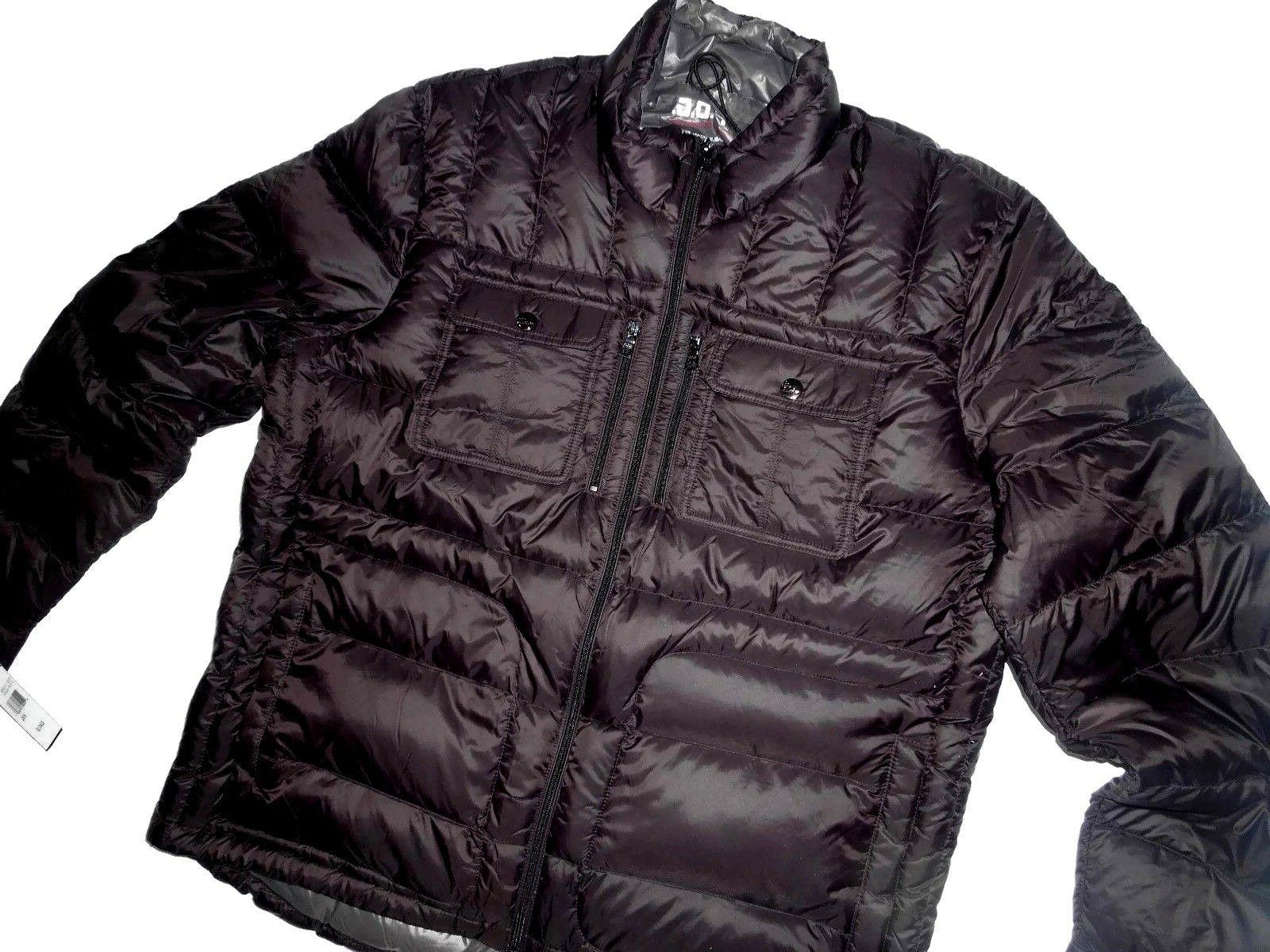 London Fog men's black Packable Down Puffer winter Jacket si