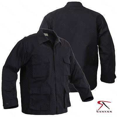 Men's Black Rip-Stop Uniform Jacket - Rothco SWAT Tactical B
