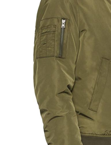Goodthreads Men's Bomber Jacket Olive Large Body with Contrast