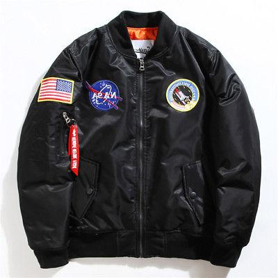 Men's Jacket NASA MA1 Flight Baseball Coat Casual