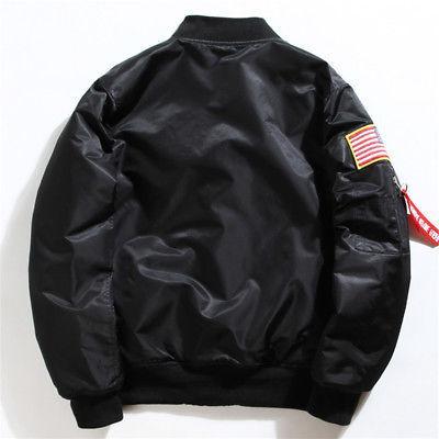 Men's Jacket NASA Flight Baseball Coat Outerwear