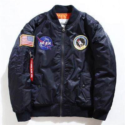 Men's Bomber Jacket NASA Flight Coat