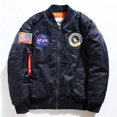 Men's Bomber Jacket NASA Flight Coat