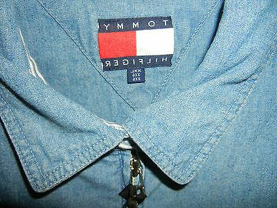 Men's Tommy Style Denim Jacket Size XXL with