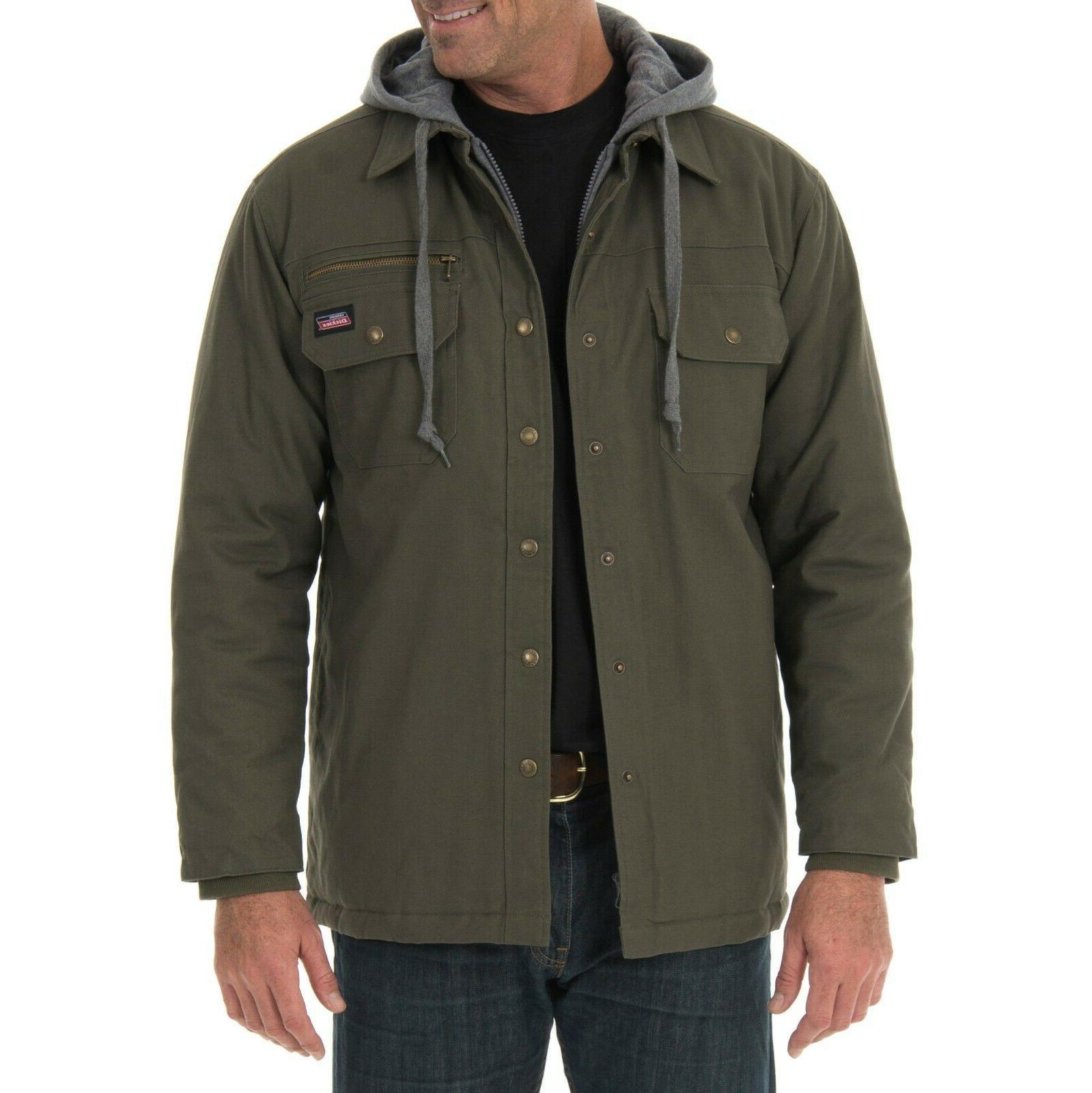 men s canvas shirt jacket size medium
