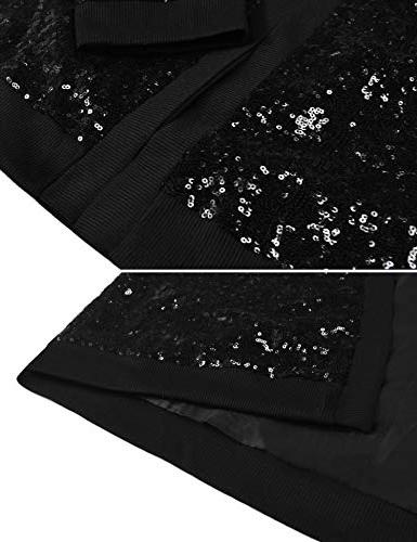 Pacinoble Beaded Sequin Long Sleeve Bolero Flapper Cover up