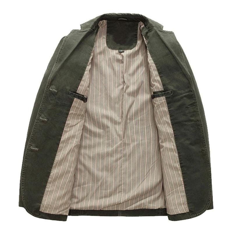 Chouyatou Men's Casual Stripe Suit Jacket