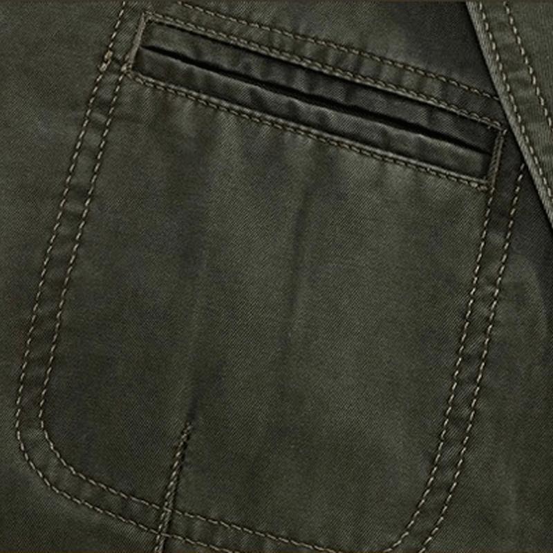 Chouyatou Men's Stripe Lined Cotton Suit Jacket
