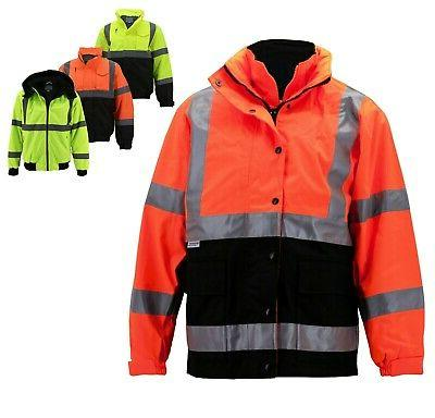 men s class 3 safety high visibility