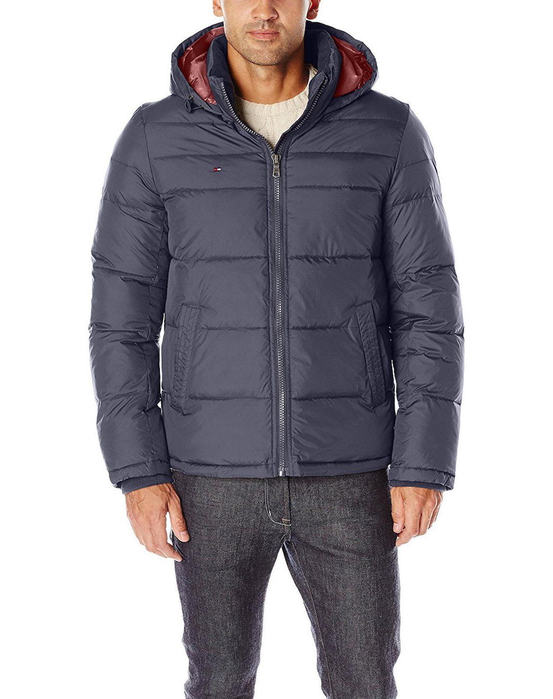 men s classic hooded puffer jacket style