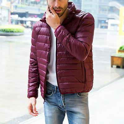 Men's Down Coat Solid Puffer Slim Fit Down jacket