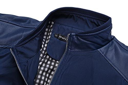 Tanming Men's Block Slim Jacket