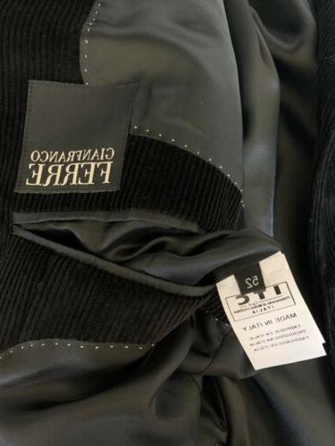 men s corduroy jacket black blazer size