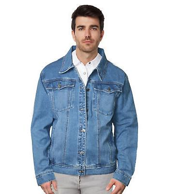 men s denim trucker blue jean jacket