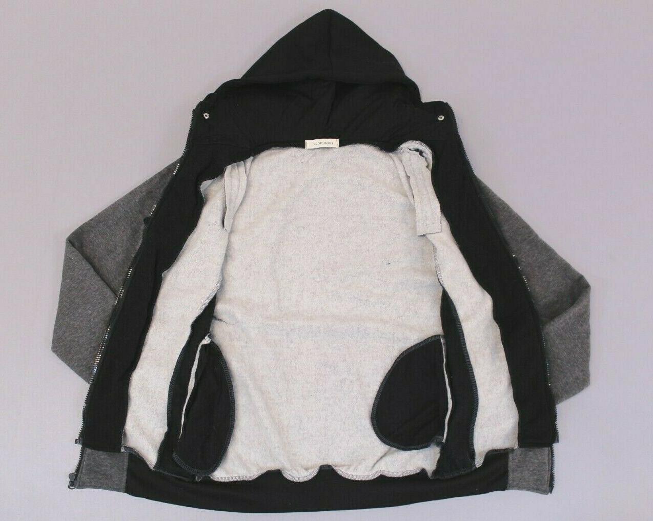 LocalMode Men's Zipper Hoodie Jacket Grey/Black Size XS