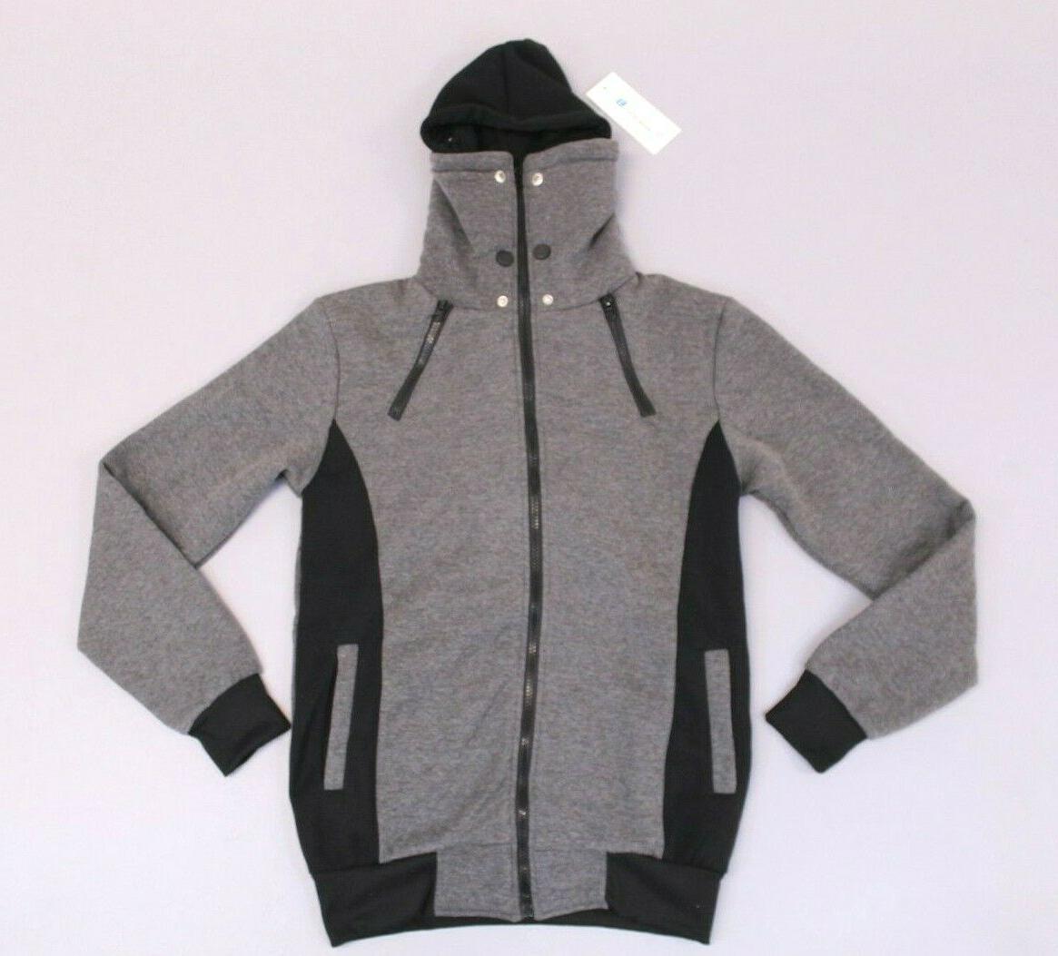 LocalMode Men's Double Zipper Hoodie Jacket Size NWT