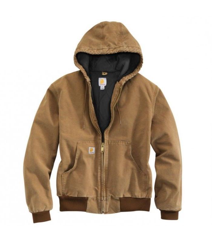 men s duck active jacket quilted flannel