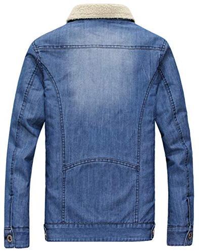 chouyatou Men's Sherpa-Lined Jacket