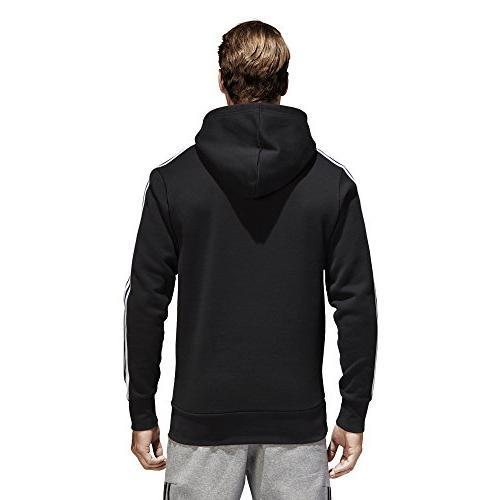 adidas Men's Essentials 3-Stripe Pullover Hoodie, X-Large
