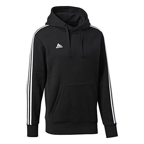 adidas Men's 3-Stripe Pullover Black/White, X-Large