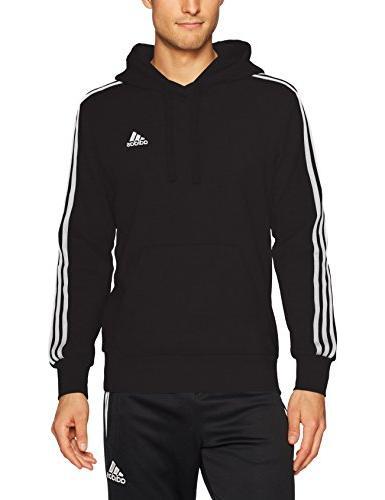 adidas Pullover Hoodie, Black/White, X-Large