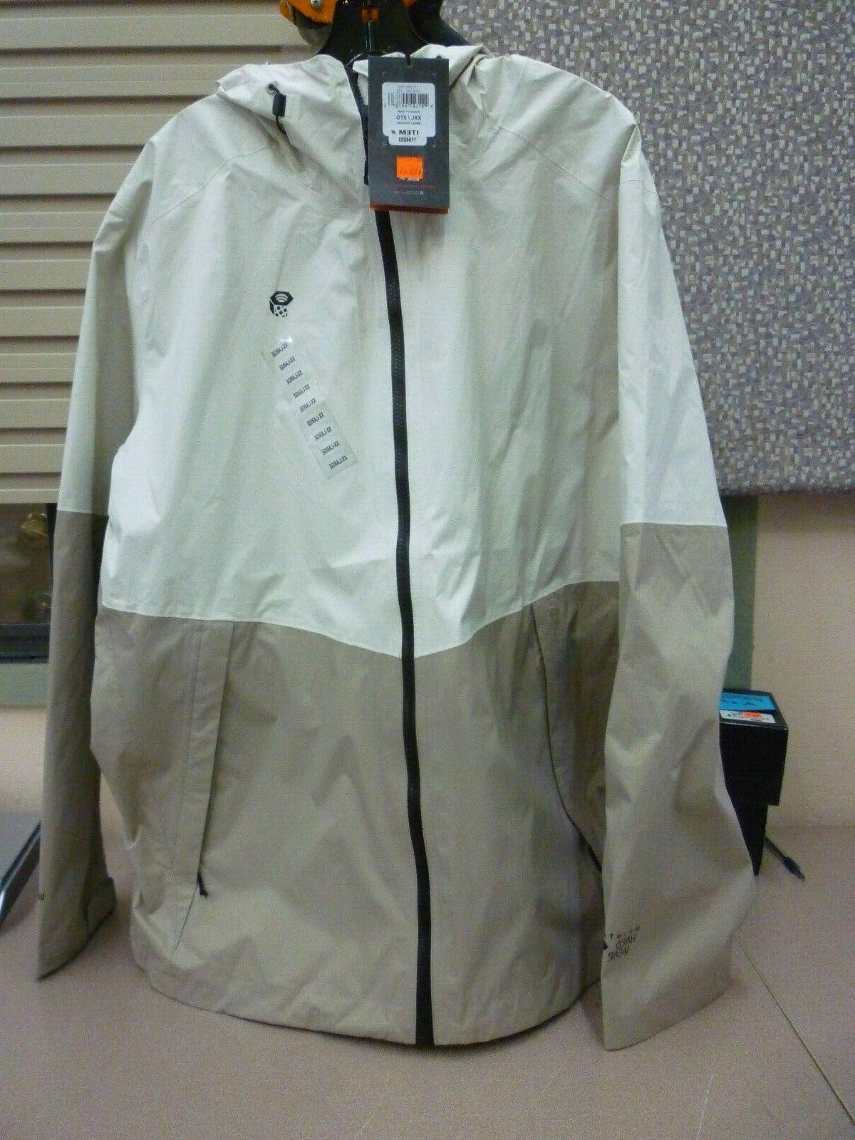 Mountain Hardwear Men's Exponent Jacket TAN COLORS, sz 2XL