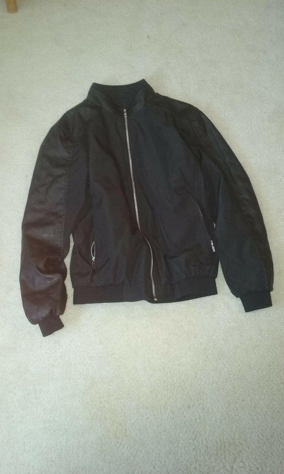 Men's Faux Leather Jacket, Men's fall/winter wear