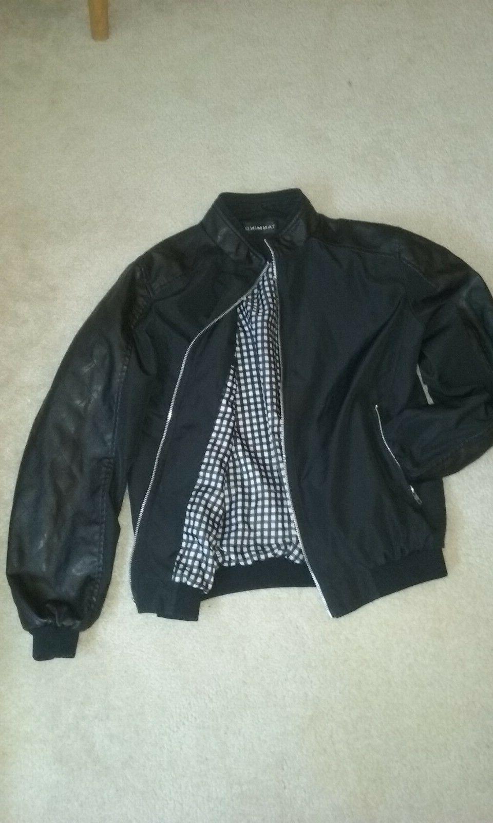 Men's Faux Leather Tanming Jacket, Men's XS size fall/winter
