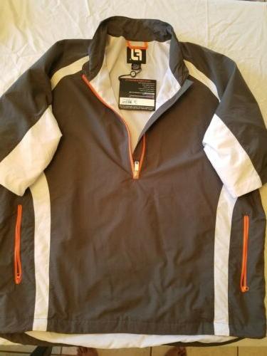 Men's Zip Rain Pullover Golf Short Sleeve Size: L